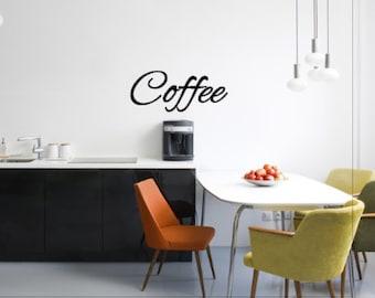 Coffee - Vinyl Wall Decal - Vinyl Wall Art - Wall Decor - Vinyl Decor - Kitchen Vinyl Wall Art - Kitchen Decor - Kitchen Wall Art