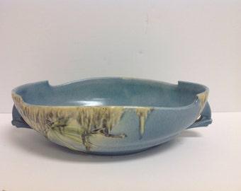 "Very Rare Roseville Moss Pattern 10"" Bowl"