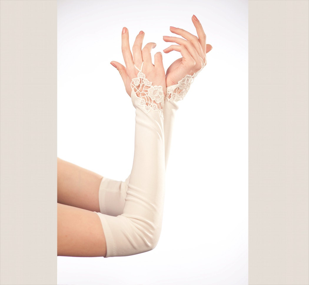 Bridal gloves wedding gloves ivory wedding by for Wedding dress with long gloves