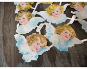 20 Vintage PZB Angel Cutouts Made In Germany - Pastels