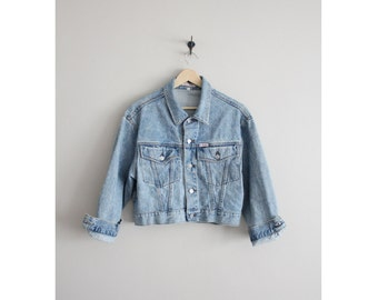 cropped denim jacket / Guess jacket / jean jacket