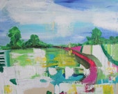 valley county- original abstract painting