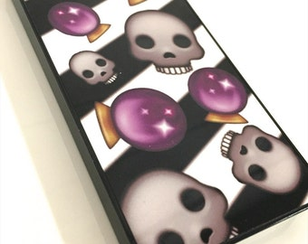 Emoji Skull Crystal Ball iphone Hard Case