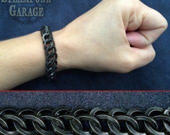 Square BLACK Steel - Half Persian 3 in 1 - Chainmaille - Chainmail