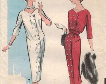 1950s Advance 8648 Vintage Sewing Pattern Misses Coat Dress Size 12 Bust 32