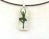Ballet Dancer Necklace | Ballerina Jewelry | Fused Glass Necklace | Girl Teenager Dance Teacher Gift Idea | Silhouette Jewelry | Dance Art