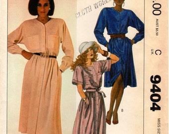 Vintage UNCUT McCall's Pattern 9404 - Misses Dress & Belt - 12