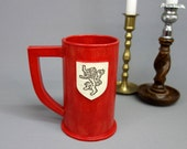 House Lannister Ceramic Stein in Red