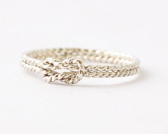 Nautical Rings: Silver Sailors Knot, Promise Ring