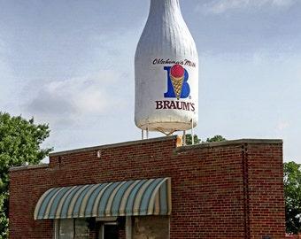 Route 66 - Rt 66 - Historic Route 66 - Oklahoma - Milk Bottle Grocery - Historic Milk Bottle Grocery - Fine Art Photography