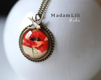 Poppies romance III Romantic Necklace