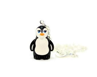 Penguin Necklace, White and Black, made from New Penguin LEGO® Piece