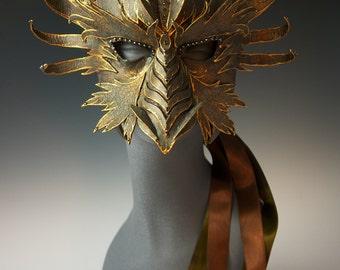 Bronze Dragon Half Mask