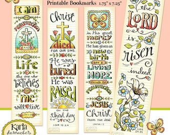 Christmas color your own bookmarks bible journaling tags easter bible bookmarks full color bible journaling tags instant download scripture digital printable download christian religious negle Choice Image