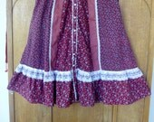 Vintage Gunne Sax Skirt, 1970s Prairie Skirt, Boho Hippie Skirt, 70s flower Skirt, Lace Skirt,Jessica's Gunnie Skirt