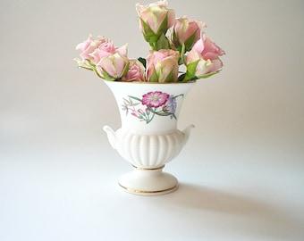 Wedgwood Porcelain Bud Vase Small English Bone China Vase Shabby Cottage Chic China Bud Vase Gift