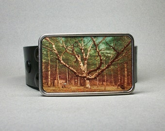 Belt Buckle Wizard Tree New Hampshire White Mountains Unique Gift for Men or Women