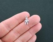 12 Doll Charms Antique Silver Tone Little Boy Charm - SC4589