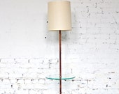 Mid Century Modern Laurel Floor Lamp With Glass / Rosewood - Stunning - Rare
