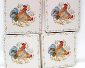 Vintage Stove Covers Rooster Decor Stove Burner Covers Rustic Enamel Kitchen Decorations Set of 4  - As Is