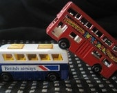 Vintage Lesney Matchbox SuperFast Buses No.17 The Londoner and  No.65 Airport Coach 1970's