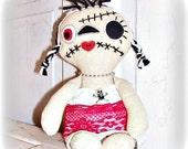 DOLL Halloween Eerie Beth Brat Goth Punk Raggedy Art Doll