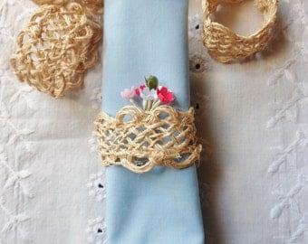 Eleven Jute Napkin Rings, Hand Woven Jute Napkin Rings