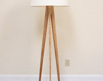 Floor Lamp Tripod Maple Slim