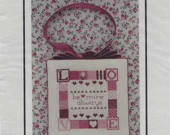 "Clearance - ""Be Mine Always"" Counted Cross Stitch Chart by Holly House Designs"