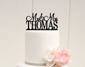 Customized Wedding Cake Topper, Personalized Cake Topper for Wedding, Custom Personalized Wedding Cake Topper, Mr and Mrs Cake Topper