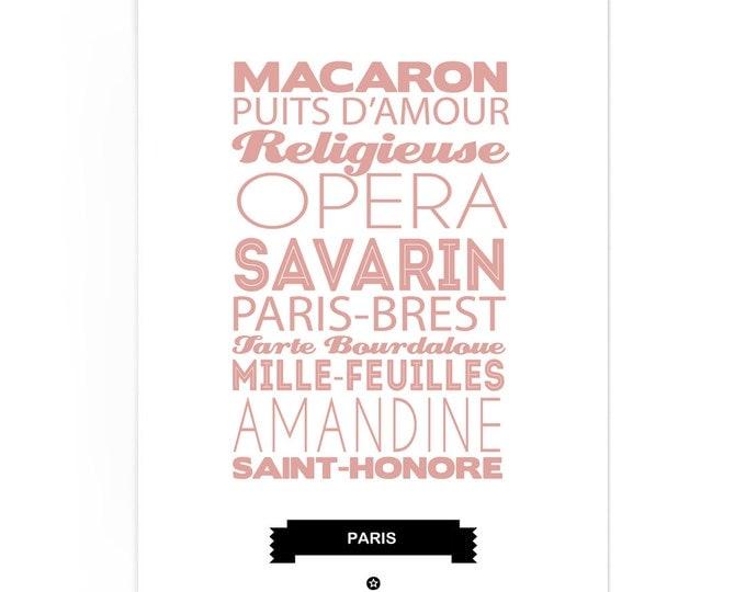 Poster Paris Patisserie Foodie