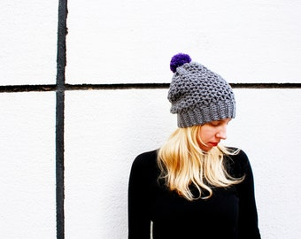 Crochet PATTERN-  The Breton Beanie-Crochet Slouchy Lacy Hat Pattern - Lacy Slouchy Hat Crochet Pattern