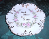 God Bless Our Home Lefton China Plate