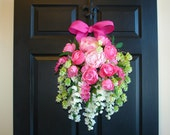 spring wreath summer wreaths tulips wreath Valentines day gifts front door decorations flowers vases wreaths