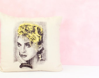 Madonna Pillow Cover 16 x 16, Accent Pillow Cover, Decorative Throw Pillow, Throw Pillow Cover, Decorative Cushion Cover, Modern Pillow