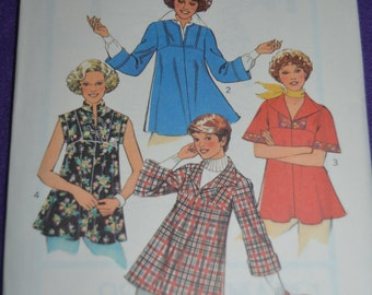 Vintage 70s Style 1636 Misses Set of Tops Sewing Pattern - UNCUT Size 10 or Size 14 or Size 16 UNCUT
