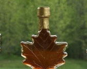 100 ml Glass Maple Leaf - 3.4 oz - Pure Vermont Maple Syrup