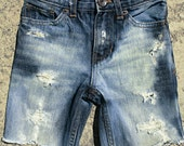 Size 4- Boys- Denim Shorts- Punk-Distressed