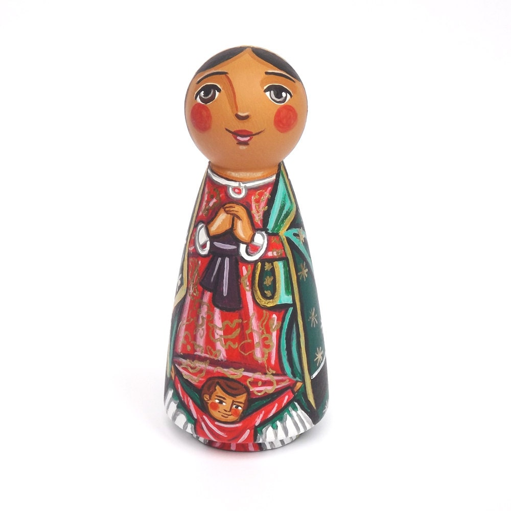 our lady of guadalupe peg doll our lady statue our lady doll