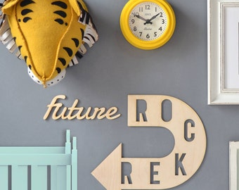 Personalised Children's Room Arrow Artwork - Nursery Decor - Custom Wall Art - Wall Decor - Arrow Wall Art - Baby Shower Gift - Wall Art