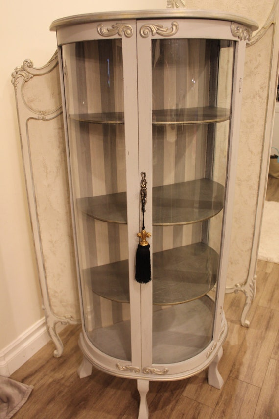 Like this item? - Sold Refinished Vintage French Provincial Curio Display
