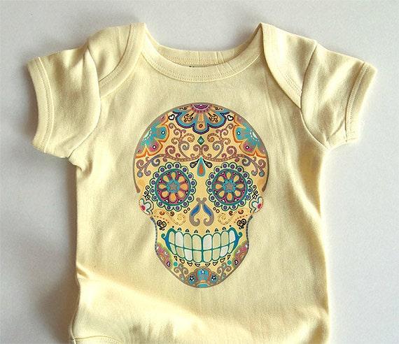Months Trendy Baby Clothes Hippie Sugar Skull
