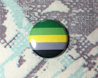 Aromantic Flag Pinback Button or Magnet