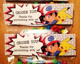 I Choose You - Pokemon themed Bag Toppers