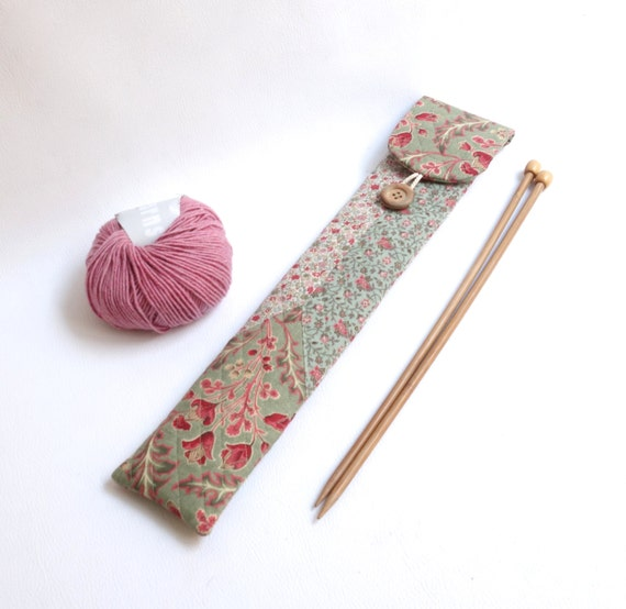 Items similar to Knitting needle case / Straight needle storage / Knitting ac...
