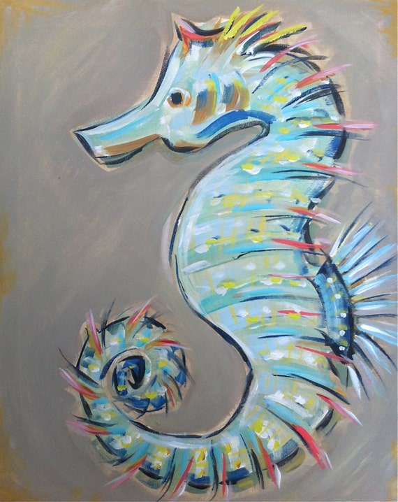 Amazoncom Seahorse Stencil  Medium Home Improvement