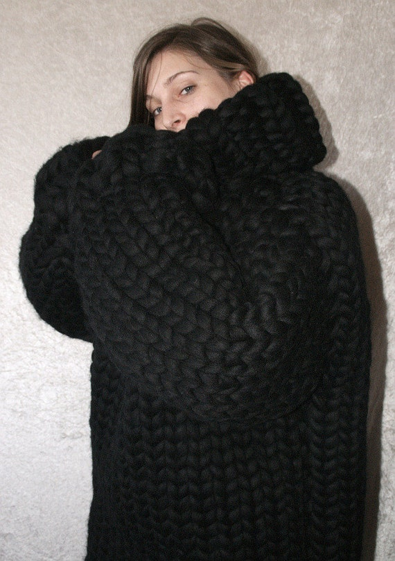 To Order Gigantic Monster Sweater Chunky Turtleneck