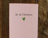 Our Love is Evergreen Card Evergreen Card Anniversary Card Just Because Valentine's Day Love Valentines Watercolor Card Evergreen Love