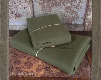 Wool: Half Yard 100% Wool - Forest Green - Marcus Fabrics