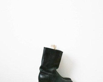 vintage 70s dehner's omaha custom leather boots / size 7